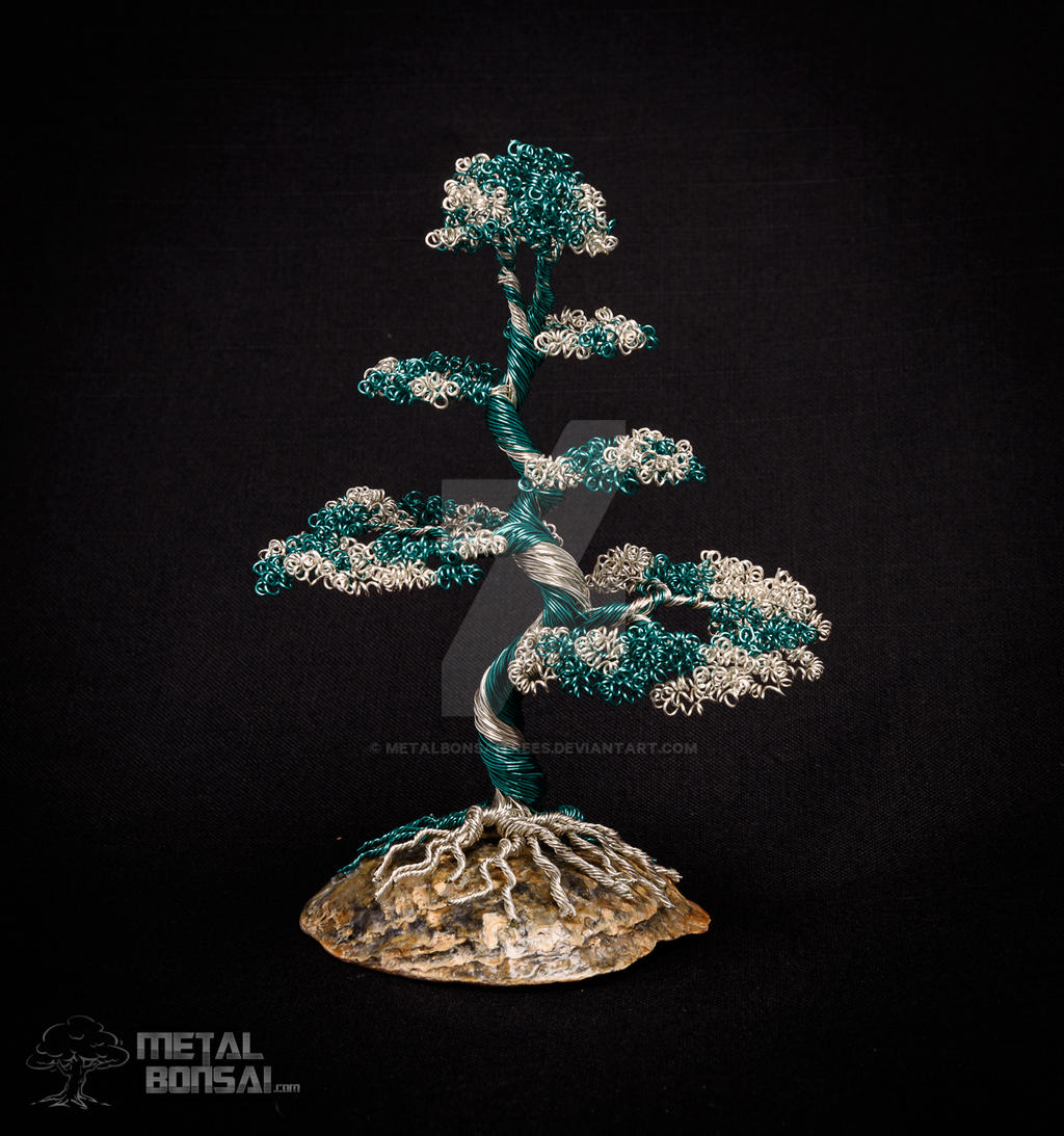 Green and Silver Wire Tree Sculpture by MetalBonsaiTrees on DeviantArt