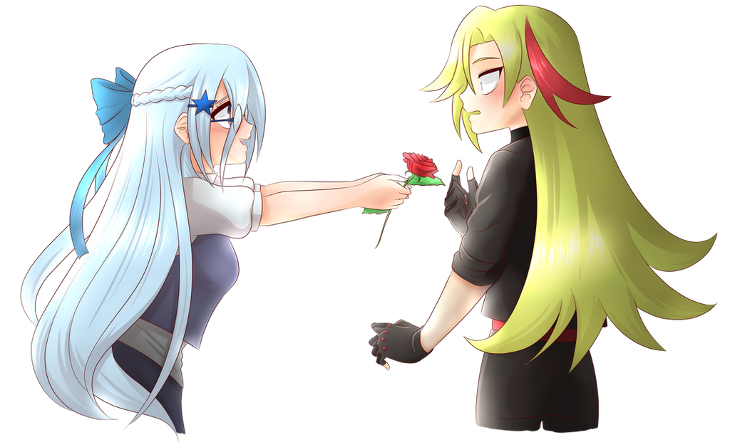 Dafne And Zac Icycrystalheart Commission By Pyoco On