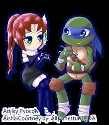 Aisha and Leo chibi[Ally-the-turtle Commission]
