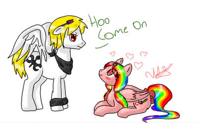 me and yosh as ponies by cherrina44