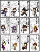 Warriors Orochi Bookmarks by VulpineNinja