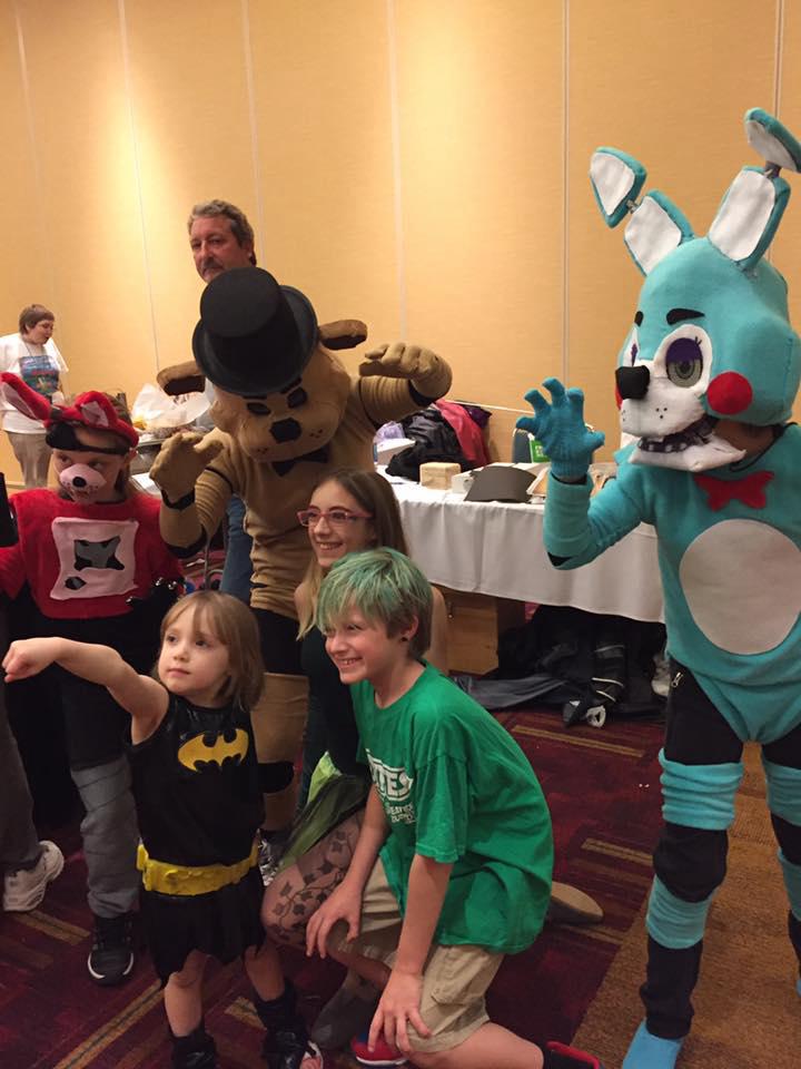 Freddy fazbear toy bonnie and foxie fox cosplay 2 by jaziengland on
