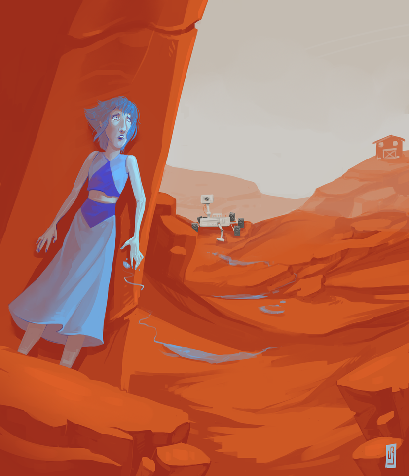 Water on Mars - with speedpaint!!! by MouthlessMouse