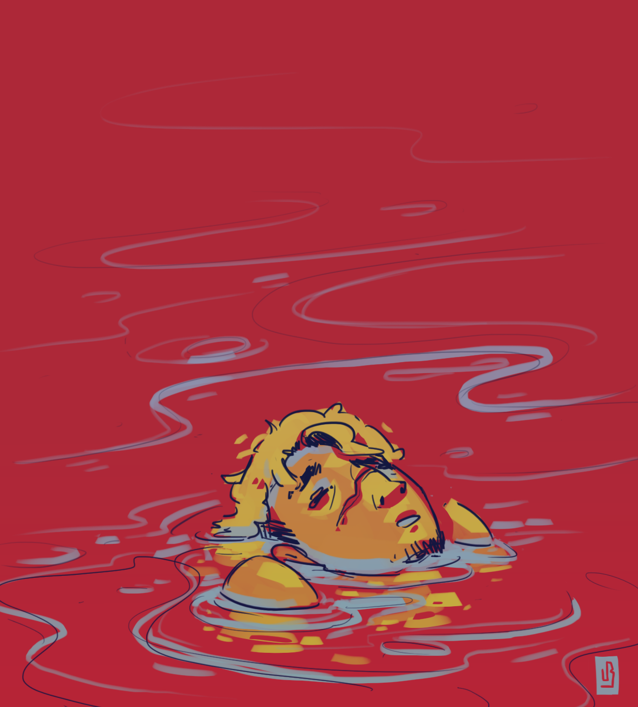 sinking - doodle by MouthlessMouse