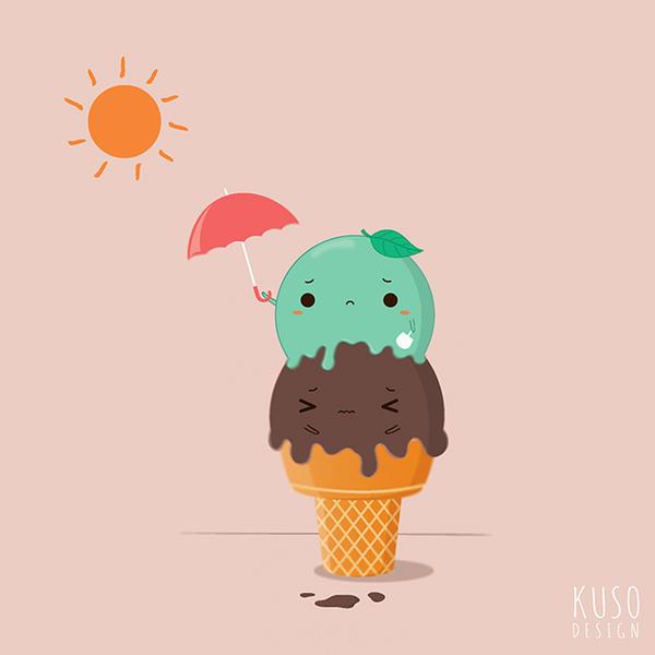Cute Ice Cream Wallpapers: Ice Cream By Kusodesign On DeviantArt