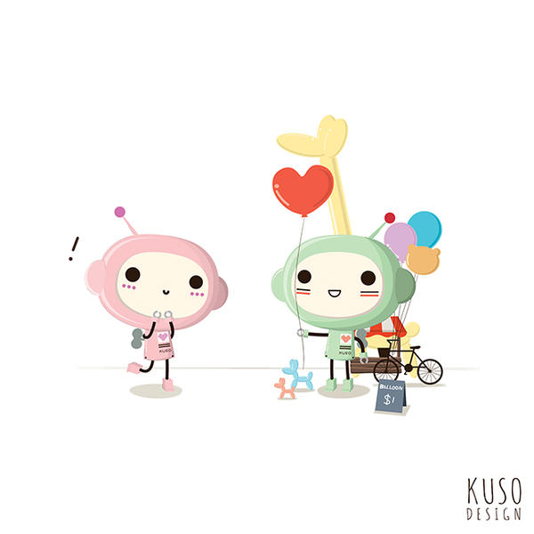Love Balloon by kusodesign