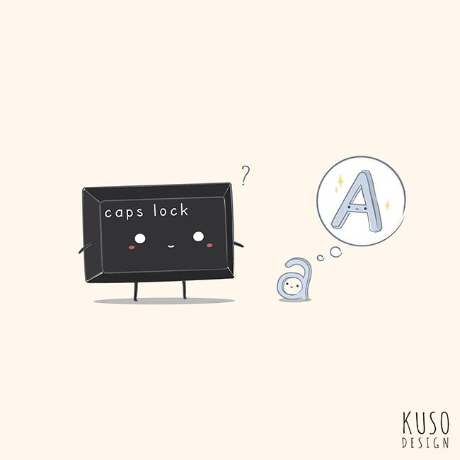 Caps Lock by kusodesign
