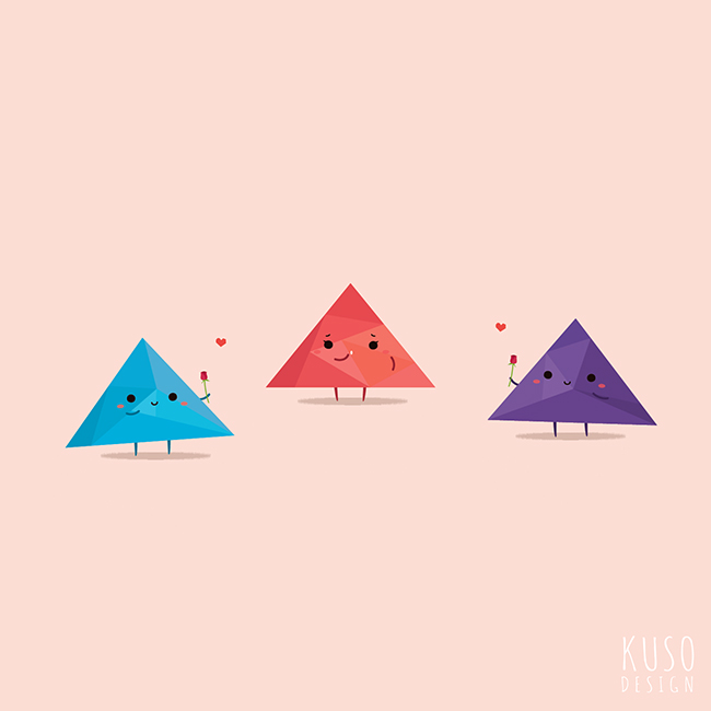 Triangle Love by kusodesign