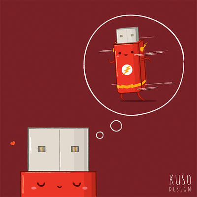 Flash Drive by kusodesign