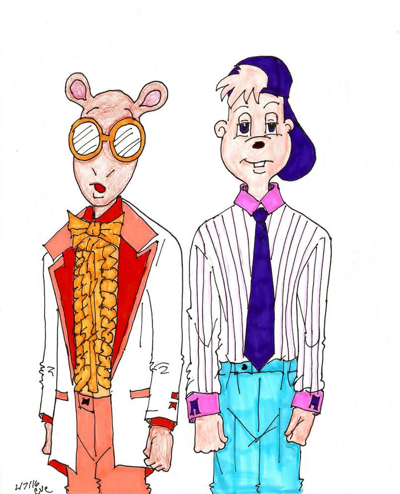 Arthur Read and Alvin Seville by skyvolt2000