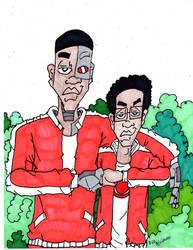 Cyborg and Exxy Clark