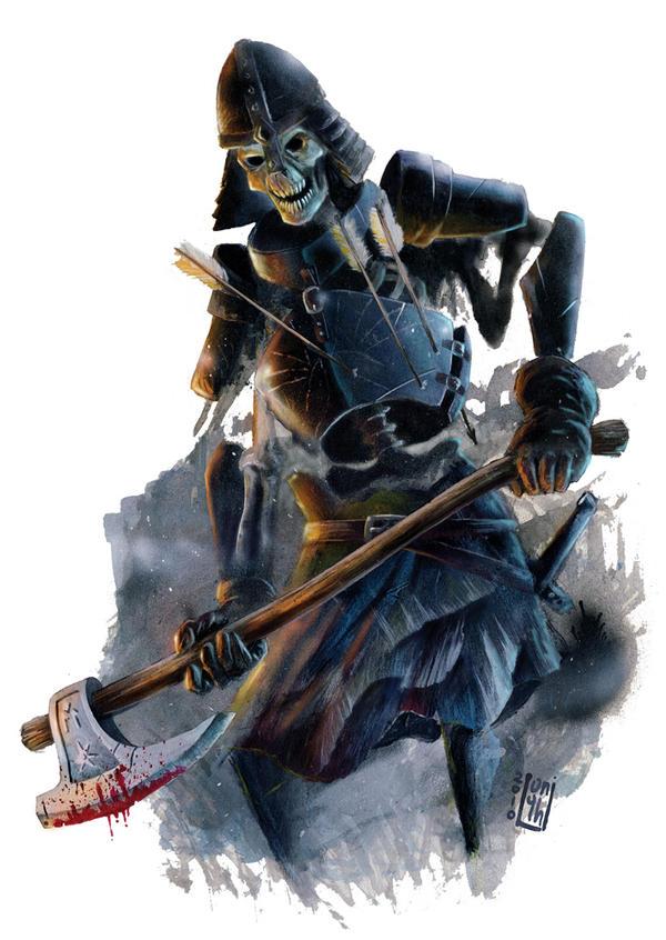 Skeleton Warrior by AndreaLonghi