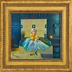 Marilyn for Van Gogh  on her Antoine Proulx Bed by zuzugraphics