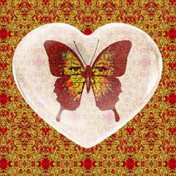 Fire Heart Butterfly  by zuzugraphics