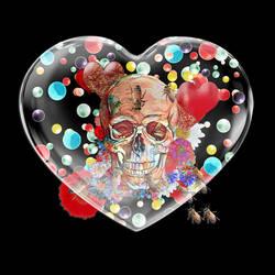 Skull In Glass Heart