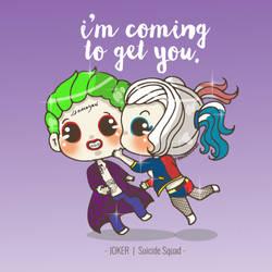 JeiniDoodles // Joker + Harley Quinn by jeinirelova