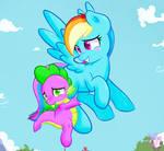Spike and rainbow !!
