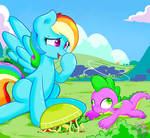 Rainbow Dash and Spike !