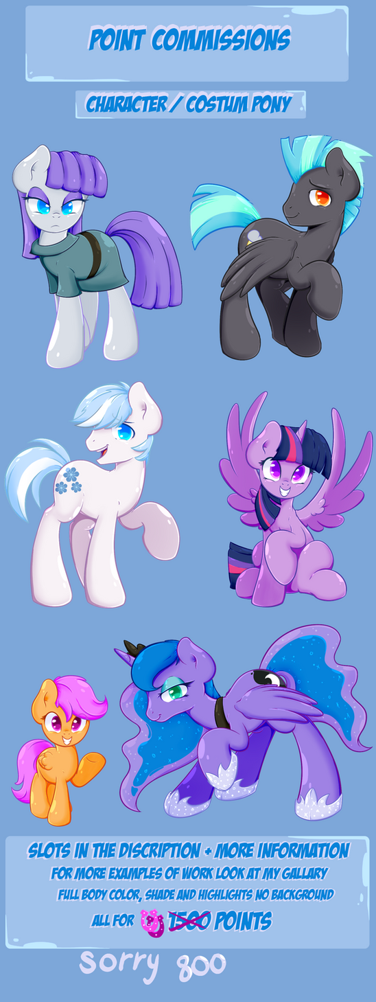Pony Commissions by shadowhulk