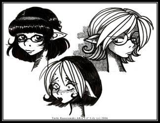 Miranda, Felicia and Alex by lillily