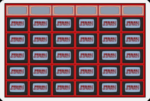 Jeopardy! Game Board 1984 with Logo