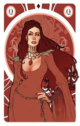 Game of Thrones' cards | Queen Melisandre