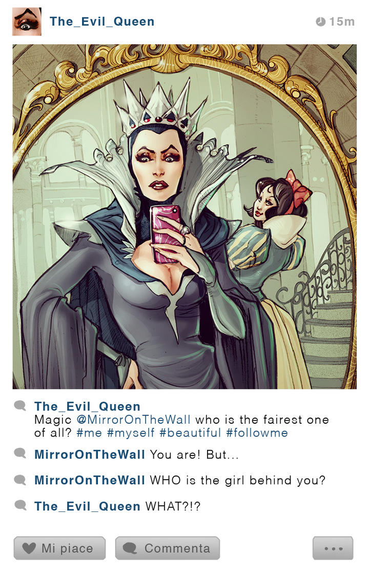 Selfie Fables_The Evil Queen and Snowhite by SimonaBonafiniDA