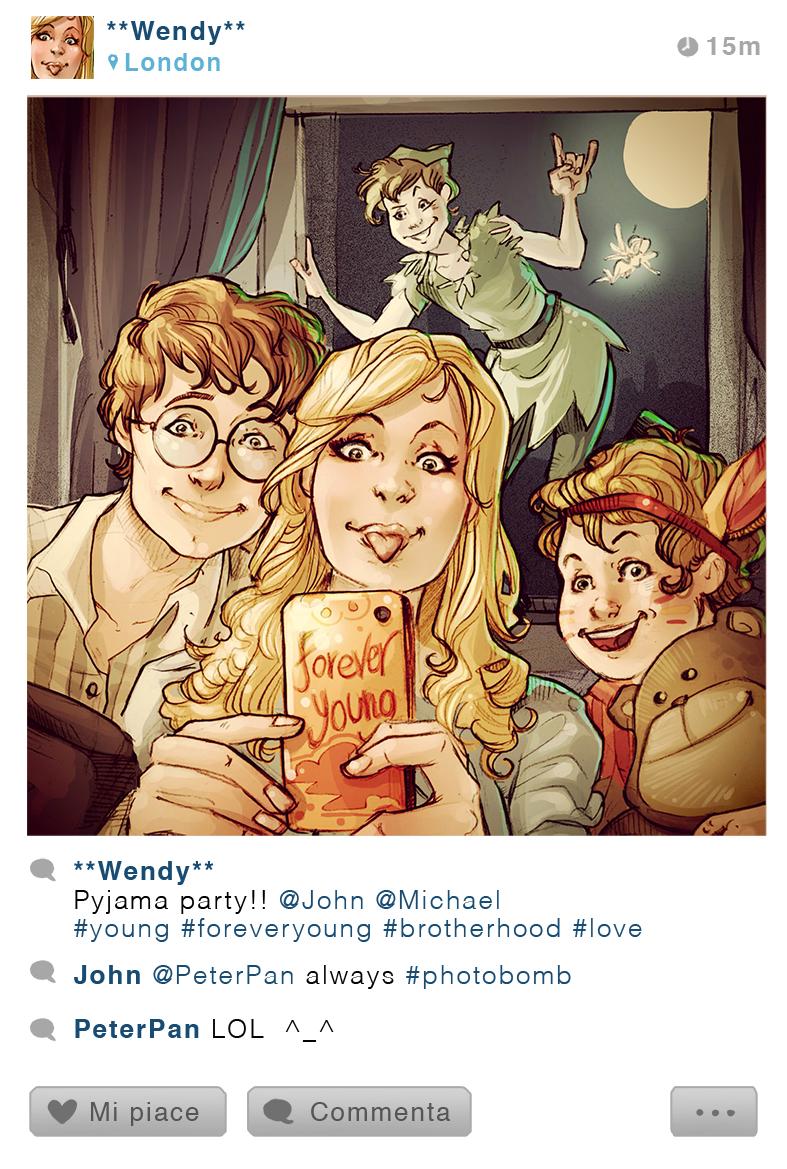 Selfie Fables | Peter Pan by SimonaBonafiniDA