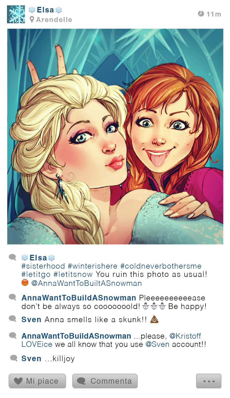 selfie Fables | Elsa and Anna by SimonaBonafiniDA