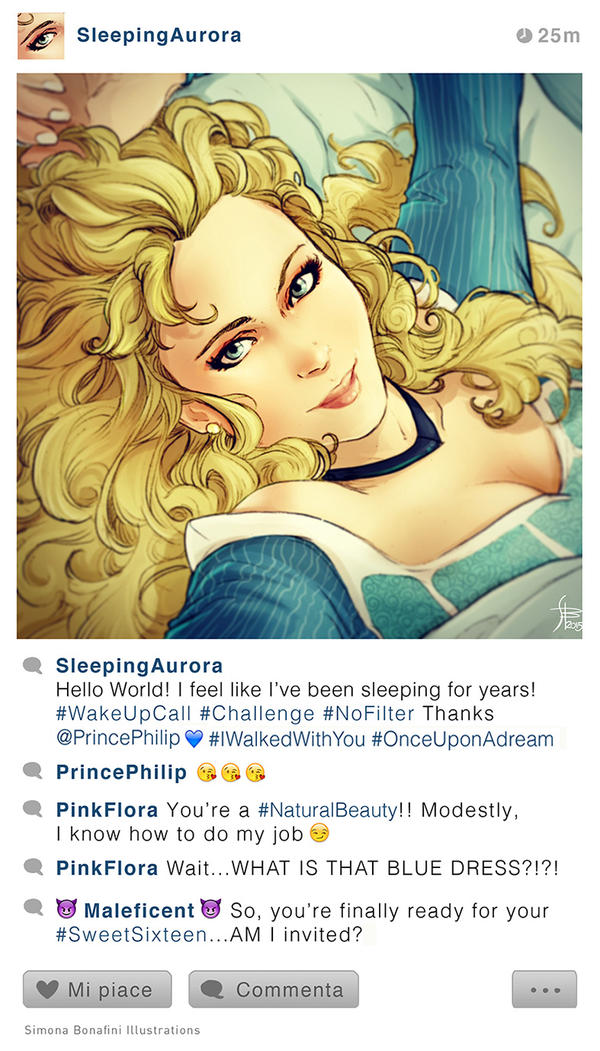 Selfie Fables | Sleeping Beauty by SimonaBonafiniDA