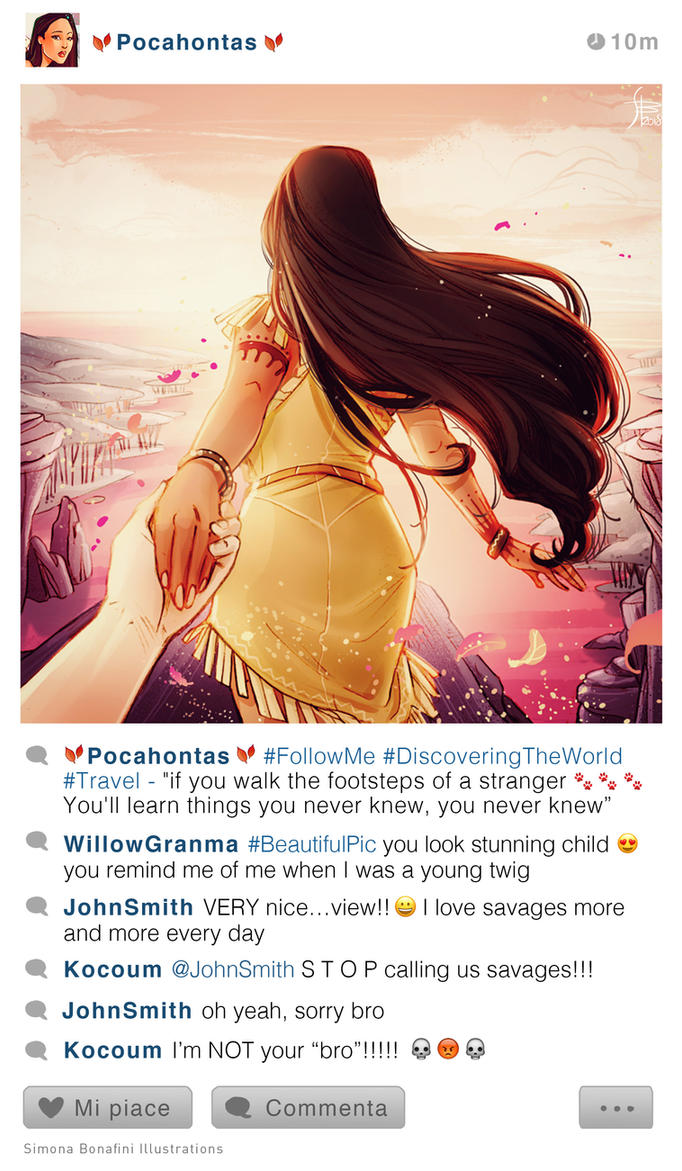 Selfie Fables | Pocahontas Followme by SimonaBonafiniDA