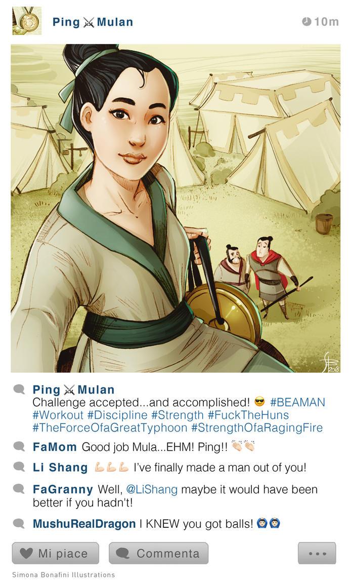 selfie Fables   Mulan Ping by SimonaBonafiniDA