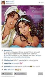 Selfiefables   Jasmine and Aladdin