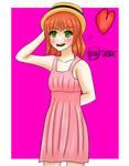Cute Anime Girl by Skyrue117