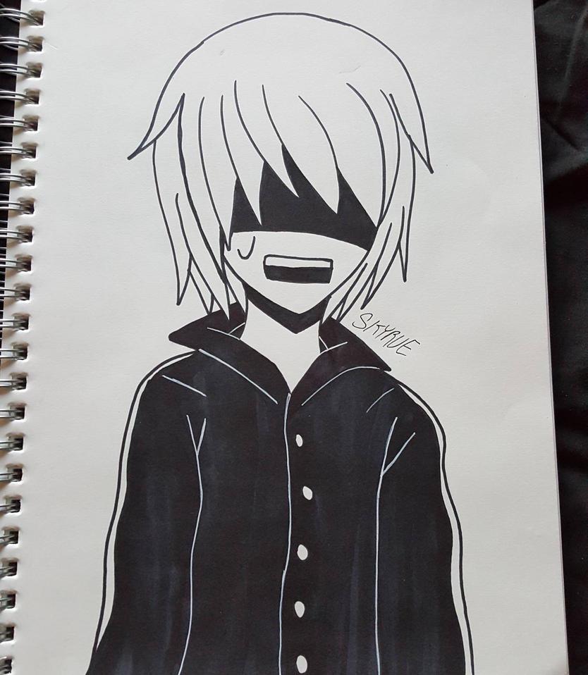 Chibi-ish Sketch by Skyrue117