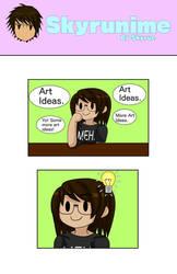 Skyrunime: Artist Problems 01 (Page 01) by Skyrue117