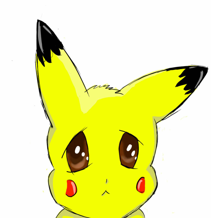 Cute Sad Pikachu