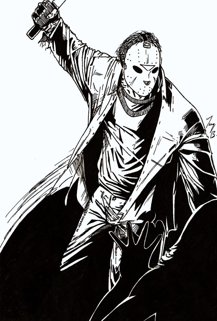 jason voorhees coloring pages - jason friday the 13th by jointforce on deviantart