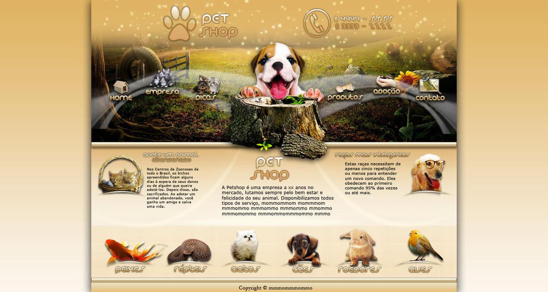 Pet shop site interface by roomorais on deviantart for Shop homepage
