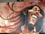 Bob Marley Caricature painting