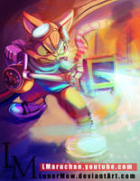 Speedpaint Request: Blinx The Time Sweeper by LunarMew