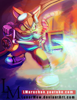 Speedpaint Request: Blinx The Time Sweeper