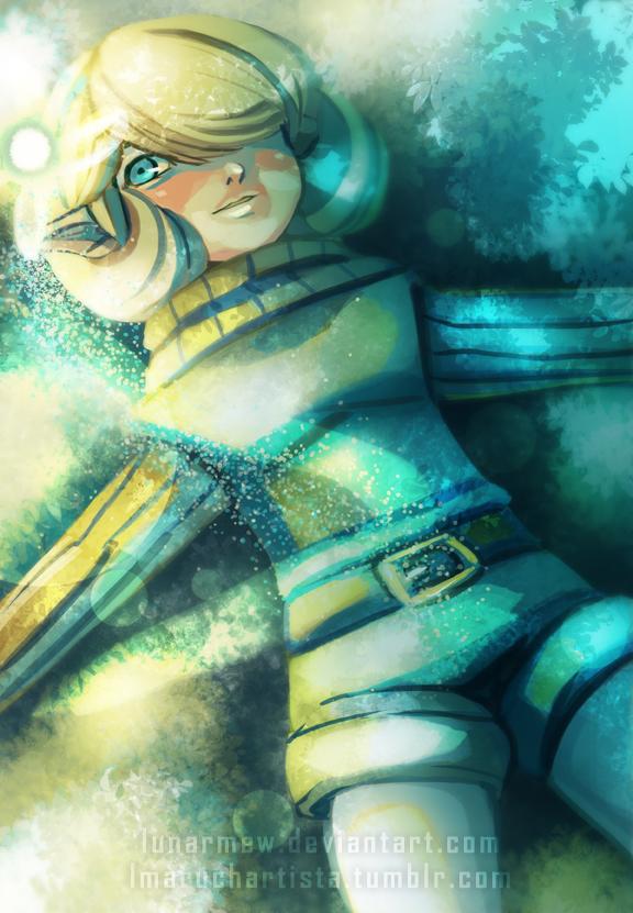 Saria Speedpaint (Art Remake) by LunarMew
