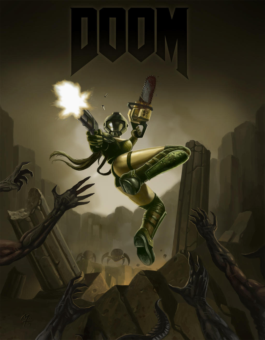 Doom Girl By Excrem By Excrem On Deviantart-2469