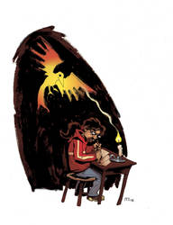 Self portrait 'me and the Crow'