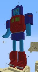 Minecraft 3d Art of Transformer Original Character