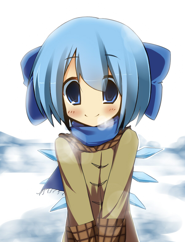 cirno in winter by EBIBI