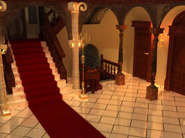 Resident Evil Mansion Render by AllThere