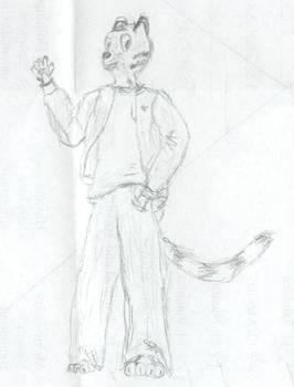 'furry' self portrait