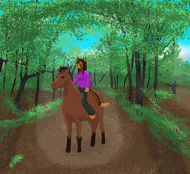 Kairi-Ride in the Woods by picomark4
